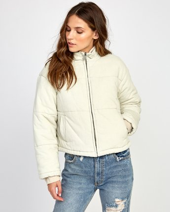 4 Eezeh Corduroy Puffer Cropped Jacket  W703VREE RVCA