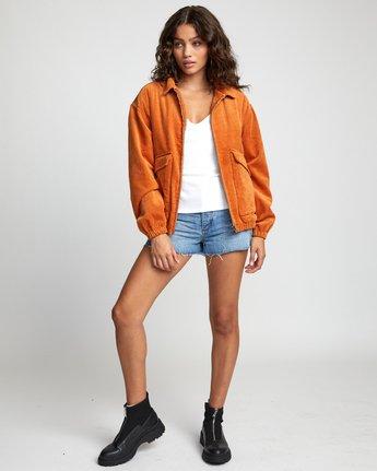 2 VIBER CORDUROY JACKET Orange W7043RVI RVCA