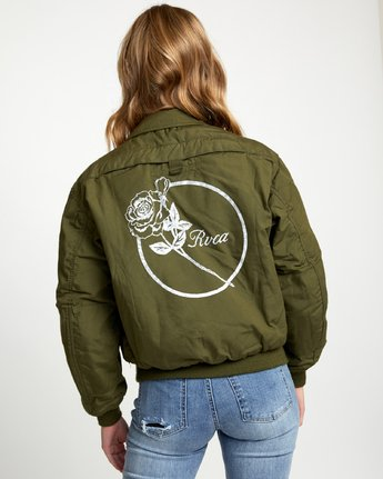 3 HOLD FAST PETITE MILITARY BOMBER Green W705WRHF RVCA