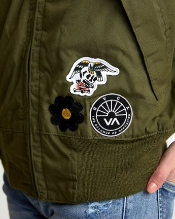 5 HOLD FAST PETITE MILITARY BOMBER Green W705WRHF RVCA