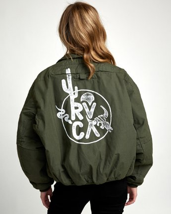 4 REBEL SOUL OVER SIZED MILITARY BOMBER Green W706WRRS RVCA