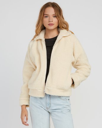 1 Ted Sherpa Jacket White W707SRTS RVCA