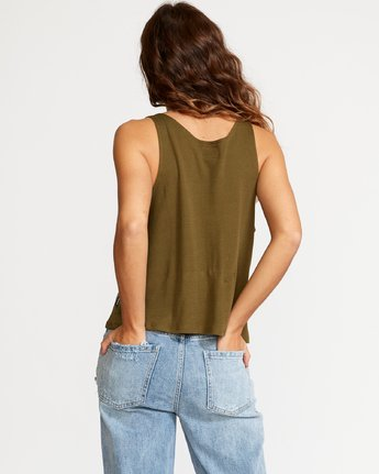 3 Portal Thermal Knit Tank Top Green W901VRPO RVCA
