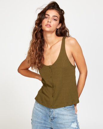 0 Portal Thermal Knit Tank Top Green W901VRPO RVCA