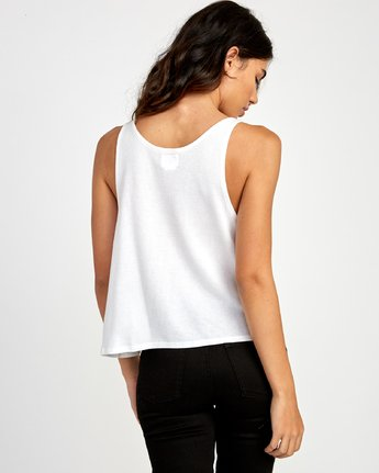 2 Portal Thermal Knit Tank Top White W901VRPO RVCA