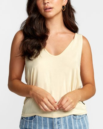 3 MINTED TANK TOP Grey W9021RMI RVCA