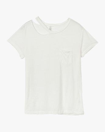 5 Ellis Distressed T-Shirt White W902QREL RVCA