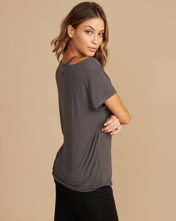 1 Ellis Distressed T-Shirt Grey W902QREL RVCA