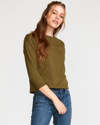 2 Lowry Knit Thermal Top Green W902VRLO RVCA