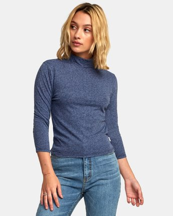 1 Jaye Knit Top Blue W902WRJA RVCA