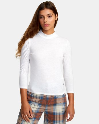0 Jaye Knit Top White W902WRJA RVCA
