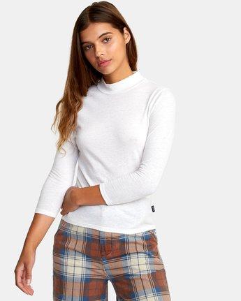 1 Jaye Knit Top White W902WRJA RVCA