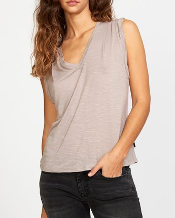 3 Myers Knit Tank Top Grey W903VRMY RVCA