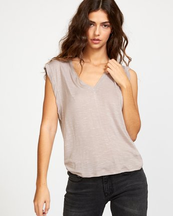 0 Myers Knit Tank Top Grey W903VRMY RVCA