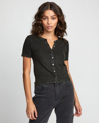 0 RETREAT TOP Black W9043RRE RVCA