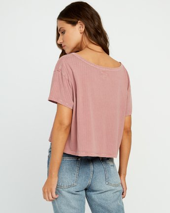 2 Headline Cropped Knit Top Brown W904URHE RVCA