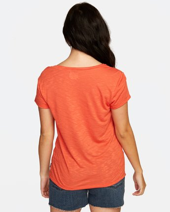 4 VINYL POCKET T-SHIRT Orange W904VRVI RVCA