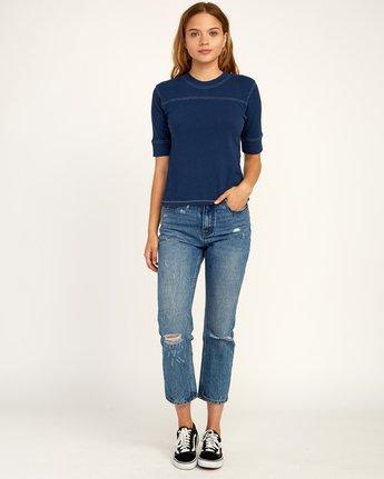 4 Stitched Knit T-Shirt Blue W905TRST RVCA