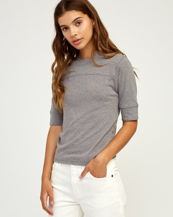1 Stitched Knit T-Shirt Grey W905TRST RVCA