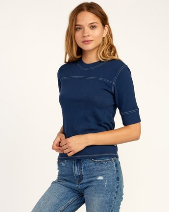 1 Stitched Knit T-Shirt Blue W905TRST RVCA