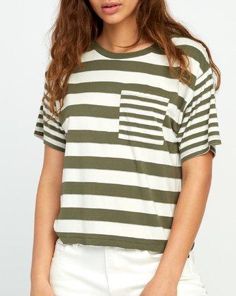 3 Raincheck Striped Knit Tee Green W905URRT RVCA