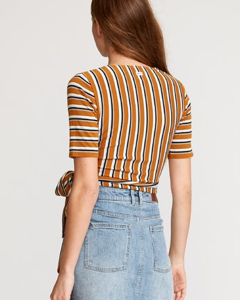 1 Lyra Wrap Crop Top Orange W905VRLY RVCA