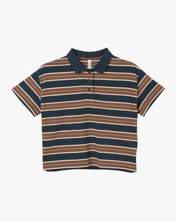 6 Polar Striped Knit Polo Shirt Blue W906TRPO RVCA