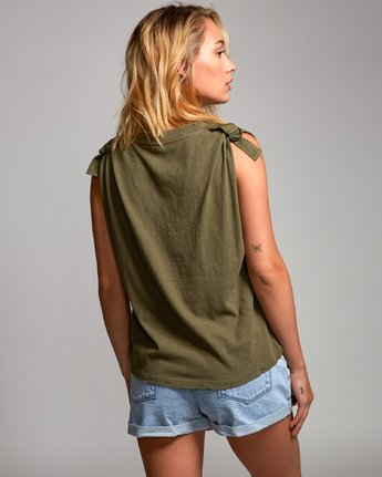 2 Game Changer Muscle Tank Top Green W906URGA RVCA