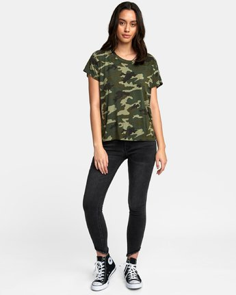 4 Suspension 3 Knit T-Shirt Camo W906VRS3 RVCA