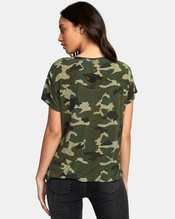 2 Suspension 3 Knit T-Shirt Camo W906VRS3 RVCA
