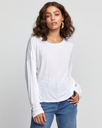 5 COUNTDOWN LONG SLEEVE TOP White W9073RCO RVCA