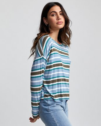 3 COUNTDOWN LONG SLEEVE TOP Multicolor W9073RCO RVCA