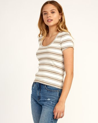 1 Seasons Change Striped Top Beige W907TRSC RVCA