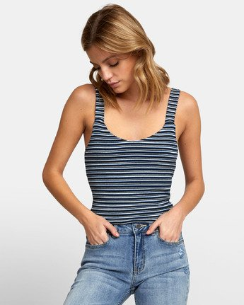 1 MARGOT TANK TOP Blue W9081RMR RVCA