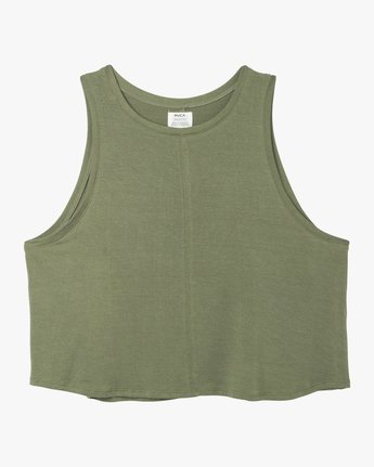 5 Happy Place Tank Top Green W908TRHA RVCA