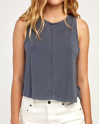 3 Happy Place Tank Top Grey W908TRHA RVCA