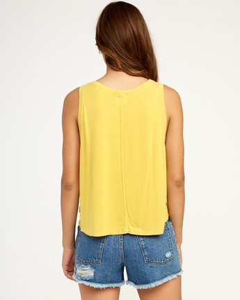 2 Happy Place Tank Top Yellow W908TRHA RVCA