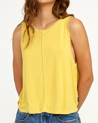 3 Happy Place Tank Top Yellow W908TRHA RVCA