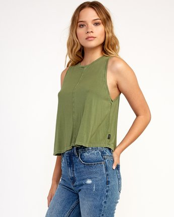 1 Happy Place Tank Top Green W908TRHA RVCA