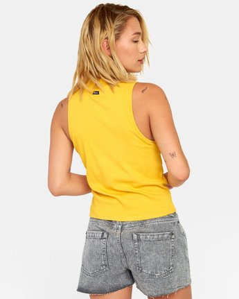 3 SONNY TANK TOP Yellow W9111RSO RVCA