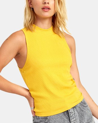 4 SONNY TANK TOP Yellow W9111RSO RVCA