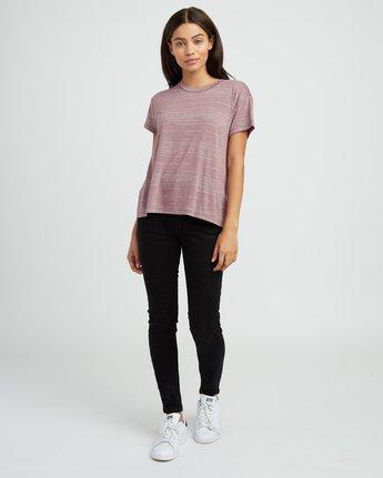 4 Suspension 2 Knit T-Shirt Pink W913SRSU RVCA