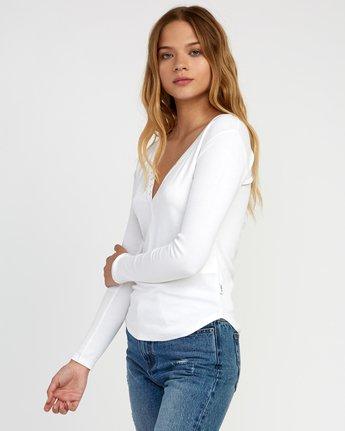 1 Zinnia Knit Long Sleeve Top White W951TRZI RVCA