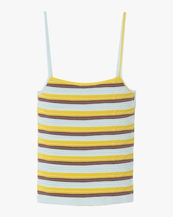 5 Tally Striped Cami Tank Top Multicolor W982TRTL RVCA