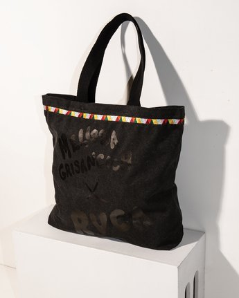 1 Grisancich Panther Tote Bag Black WABGVRPT RVCA