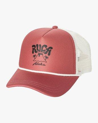 0 ERUPTION TRUCKER HAT Red WAHW1RET RVCA