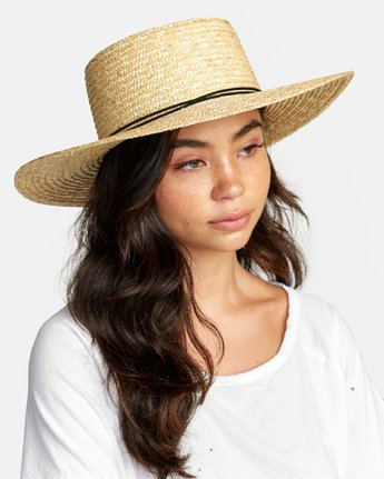 4 PENNY STRAW HAT Purple WAHW1RPE RVCA