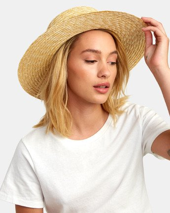 0 PENNY STRAW HAT Purple WAHW1RPE RVCA