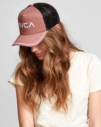 1 Title Trucker Hat Brown WAHWNRTI RVCA