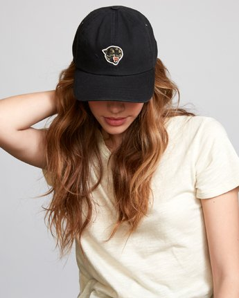 1 Grisancich Panther Dad Hat Black WAHWVRPH RVCA